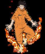 Shinra Kusakabe aspetto