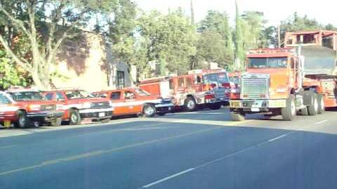 Station Fire - L.A. County FD Dozer Team