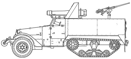 105mm Howitzer Motor Carriage, T38
