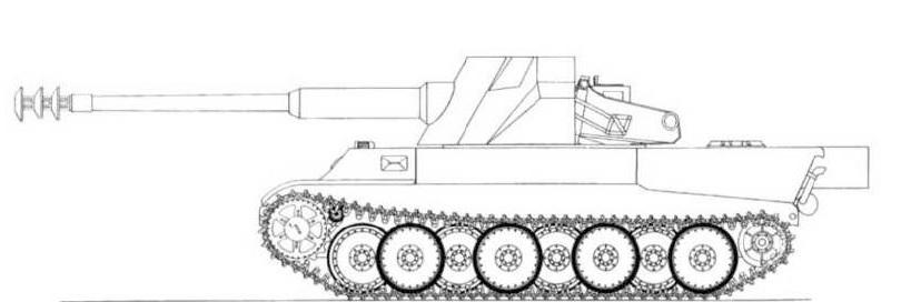 12,8cm Kanone 43 L/55 (Sfl) Gerät 5-1213 Rheinmetall Borsig