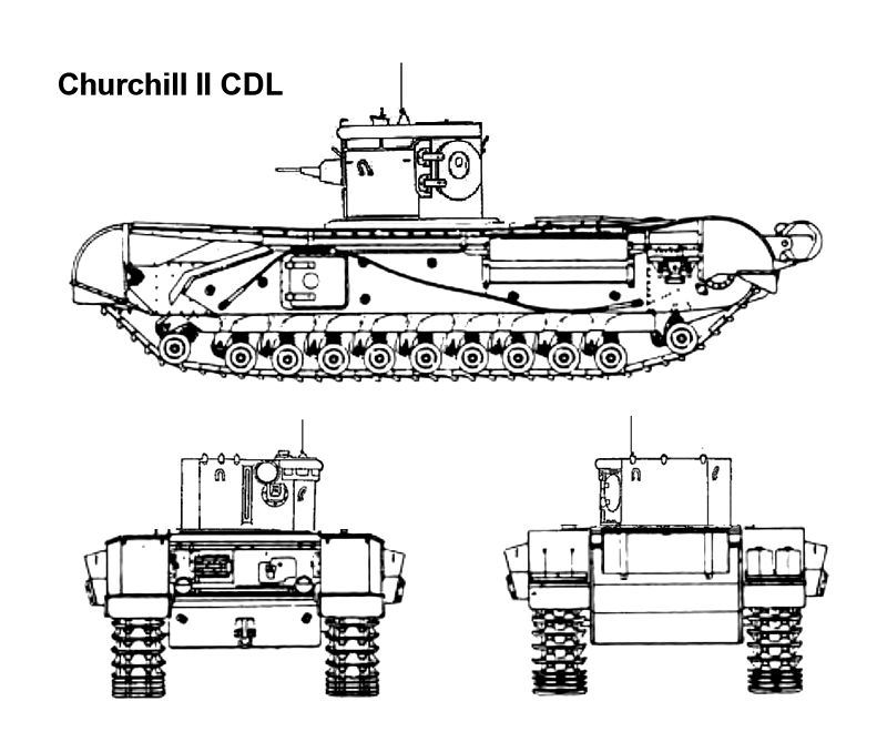 Infantry Tank Mk. IV, Churchill Mk. II, CDL