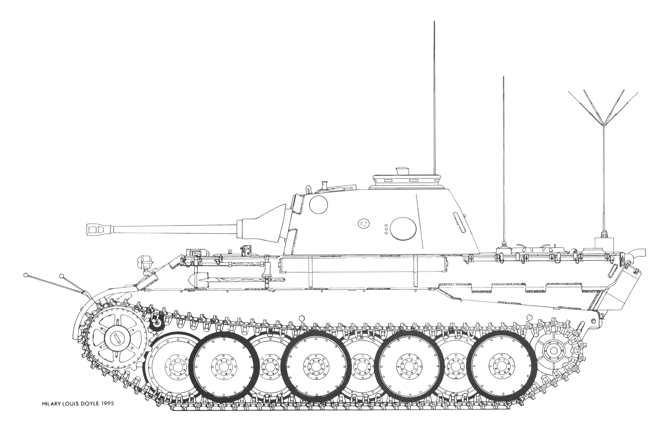 Artillerie-Panzerbeobachtungswagen Fahrgestell Panther mit 5cm KwK 39/1