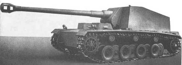 Panzer Selbstfahrlafette für 12,8cm K40