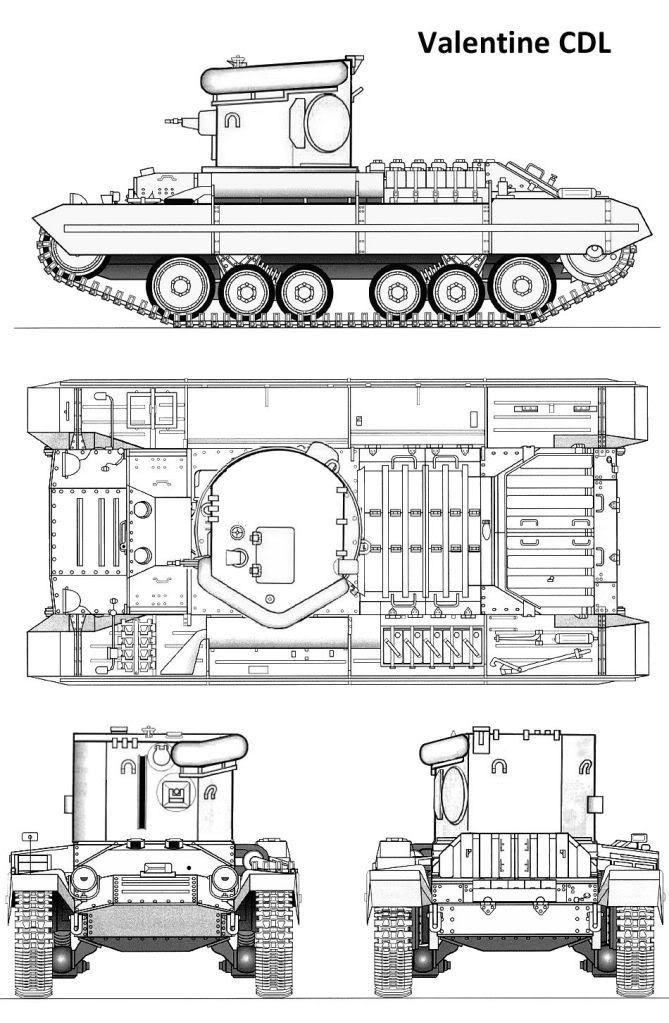 Infantry Tank Mk. III, Valentine, CDL