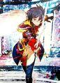 SMTxFE Istuki Aoi illustration by toi8 for Fire Emblem Cipher Series 4 (Genei ver.)