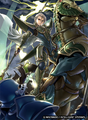 Fernand as a Paladin in Fire Emblem 0 (Cipher)