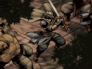 Marth fighting bandits