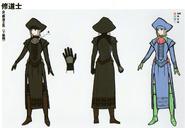 3H Female Monk concept