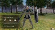 Modelo 3D de Dedue como Caballero bastión (frente) - Fire Emblem Three Houses