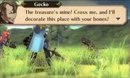 Gecko in battle