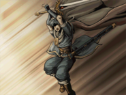 Marth leaping to strike