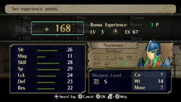 Bonus Experience