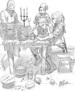 Effie Arthur Eating Sketch