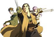 Valbar, Kamui y Leon (Battle of Revolution)