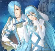 Azura y Shigure Arte de apoyo