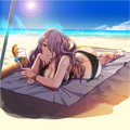 Artwork CG de Camilla del DLC Reyerta vacacional - Fire Emblem Fates