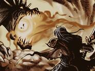 Anri wields the Falchion