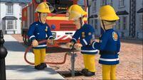 The crew check the hydrant pressure
