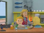 Sarah, James and browen Cafe fire series 12