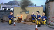 Sam putting out TV fire (Series 5)