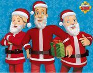 Sam, Penny and Steele dressed as Santa