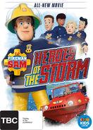 Fireman Sam Heroes Of The Storm Australian DVD Cover