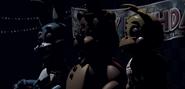 Los 3 Animatronics en el Show Stage