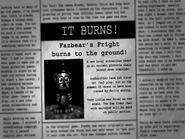 Incendio En Fazbear's Fright