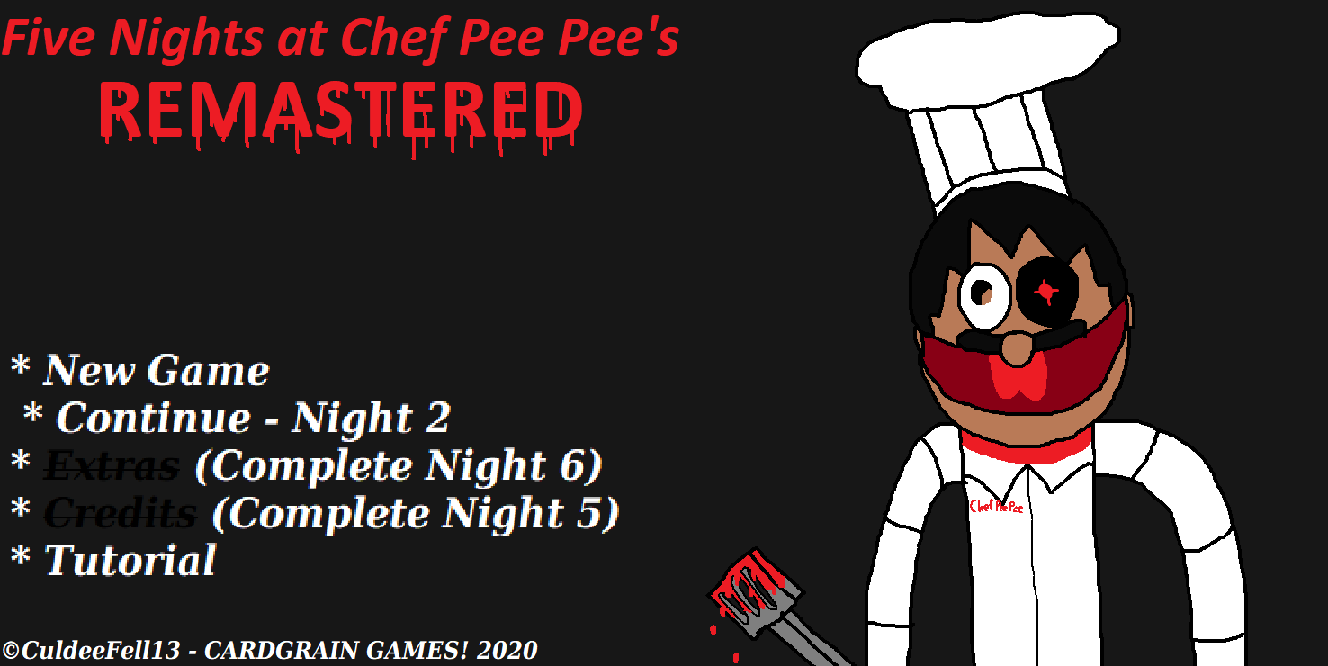 Five Nights At Chef Pee Pee S Remastered Five Nights At Freddy S Fanon Wiki Fandom