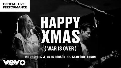 """Miley_Cyrus,_Mark_Ronson_ft._Sean_Ono_Lennon_-_""""Happy_Xmas_(War_is_Over)""""_Official_Performance_-Vevo"""