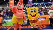 Spongebob and Patrick suits