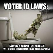 Voter ID Law joke