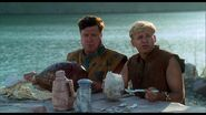 The Flintstones - 1994 Film - Fred and Barney with a Dodo Egg