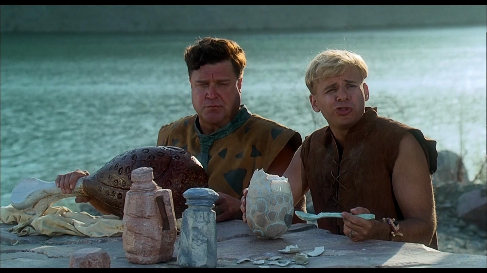 The Flintstones - 1994 Film - Fred and Barney with a Dodo Egg.jpg
