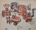 The Flintstones - Early Concept Art - Fred in His Early Home