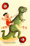 The Flintstones - Fred and Tyrannosaurus - Ed-U-Card