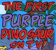 The First Purple Dinosaur on TV! - Title Card