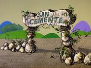 San Cemente - Entry Sign from The Bedrock Hillbillies