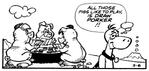 Dino and Three Pigasauruses - The Flintstones Daily Comic Strip - Mar. 6, 1984