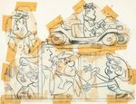 The Flintstones - Perry Gunnite and Pebble Bleach - Model Sheet - 1
