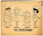 The Flintstones Model Sheet by Ed Benedict - Fred, Wilma, Barney and Betty