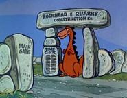 Dinosaur-13 Punch Clock - Meet the Flintstones