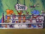 The Flintstones - Toy Animals and Dolls from Christmas Flintstone