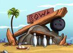 The Flintstones - Seth McFarlane Concept Art - Bedrock Bowl by Andy Clark