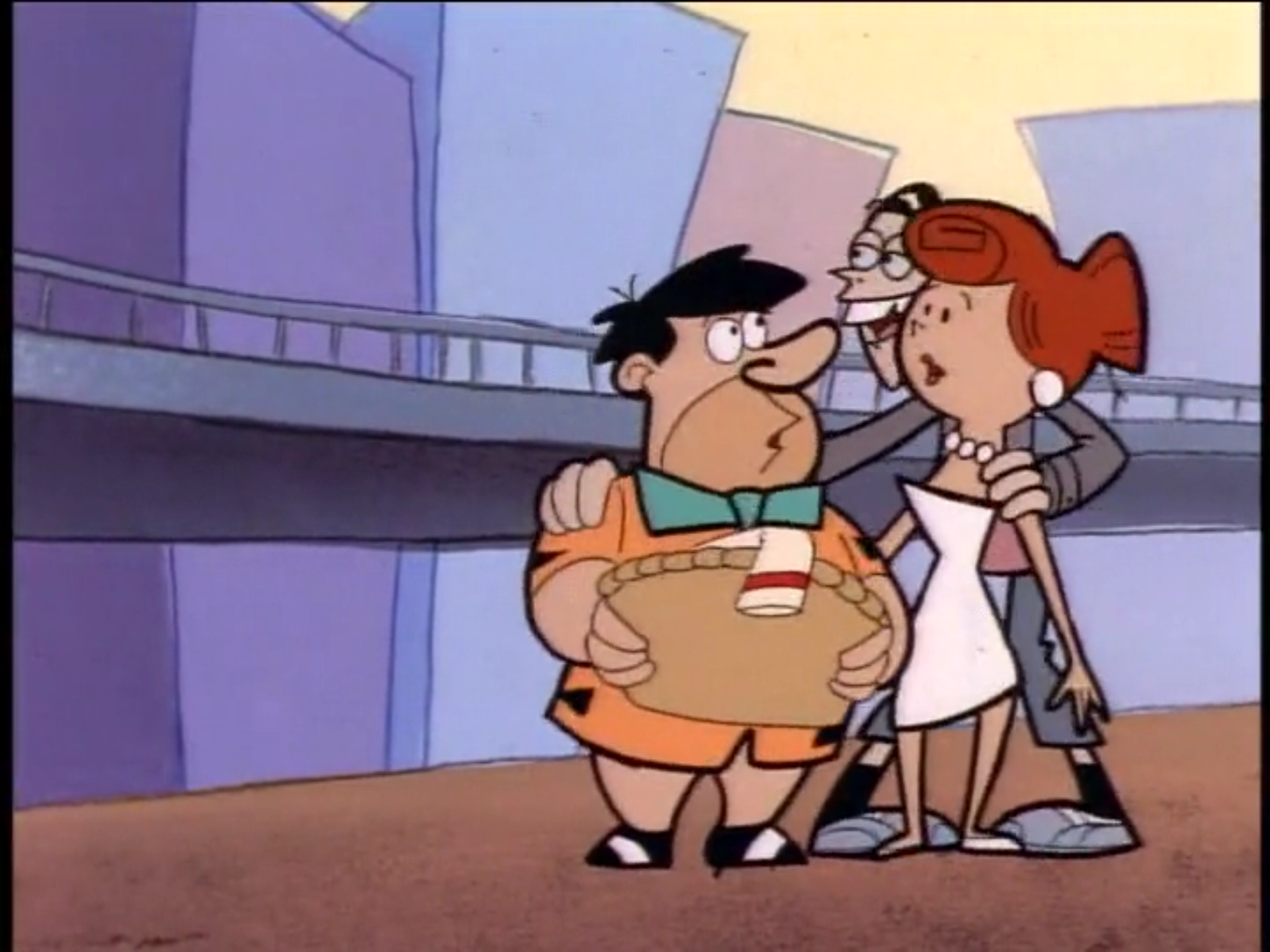 Fred and Wilma's cameo appearance in Dumb and Dumber cartoon.png