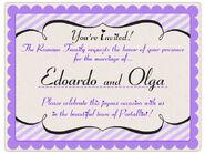 Invitación Boda Romano