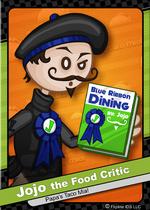 Jojo the food critic