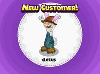 Nuevo cliente Cletus durante Pascua