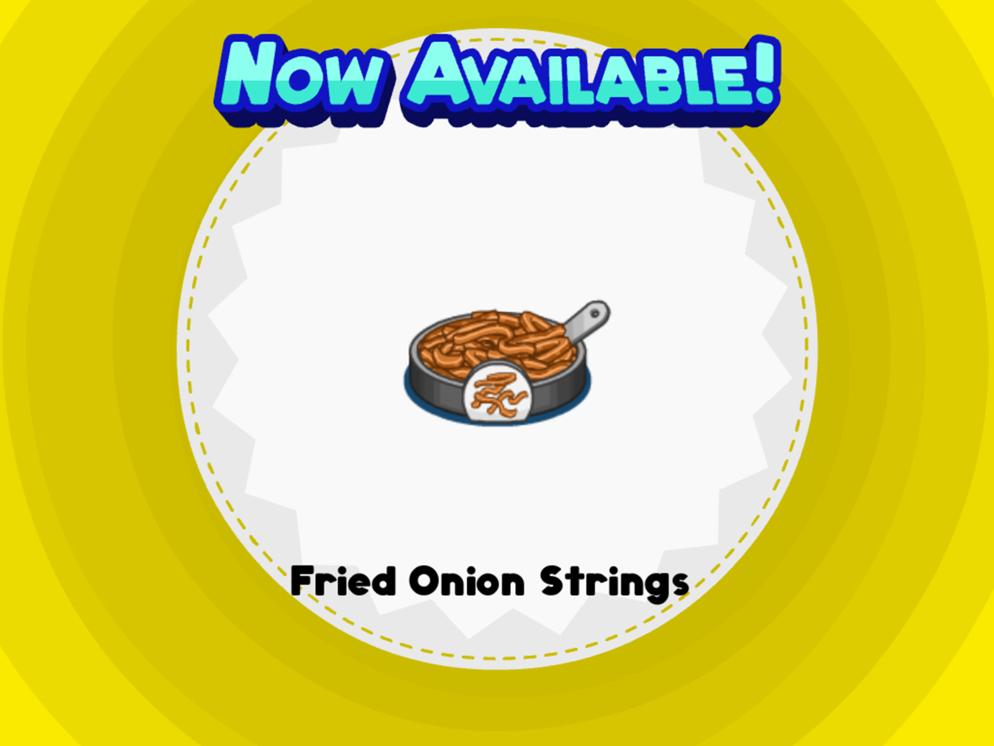 Cadenas de cebolla fritos
