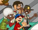 Edna, Carlo, Roy y Fitz